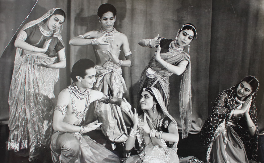 Ram Gopal and dancers performing a folk dance - Photograph