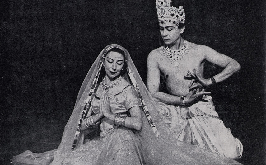 1960s: The Royal Festival Hall hosted two seasons of performances by Ram Gopal and his company. The first was in 1956 and this tour in 1960-1. The programme included a letter to Ram Gopal by T.E. Bean, the General Manager. ©Victoria & Albert Museum, London